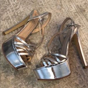 Chinese Laundry Silver Heels 6""